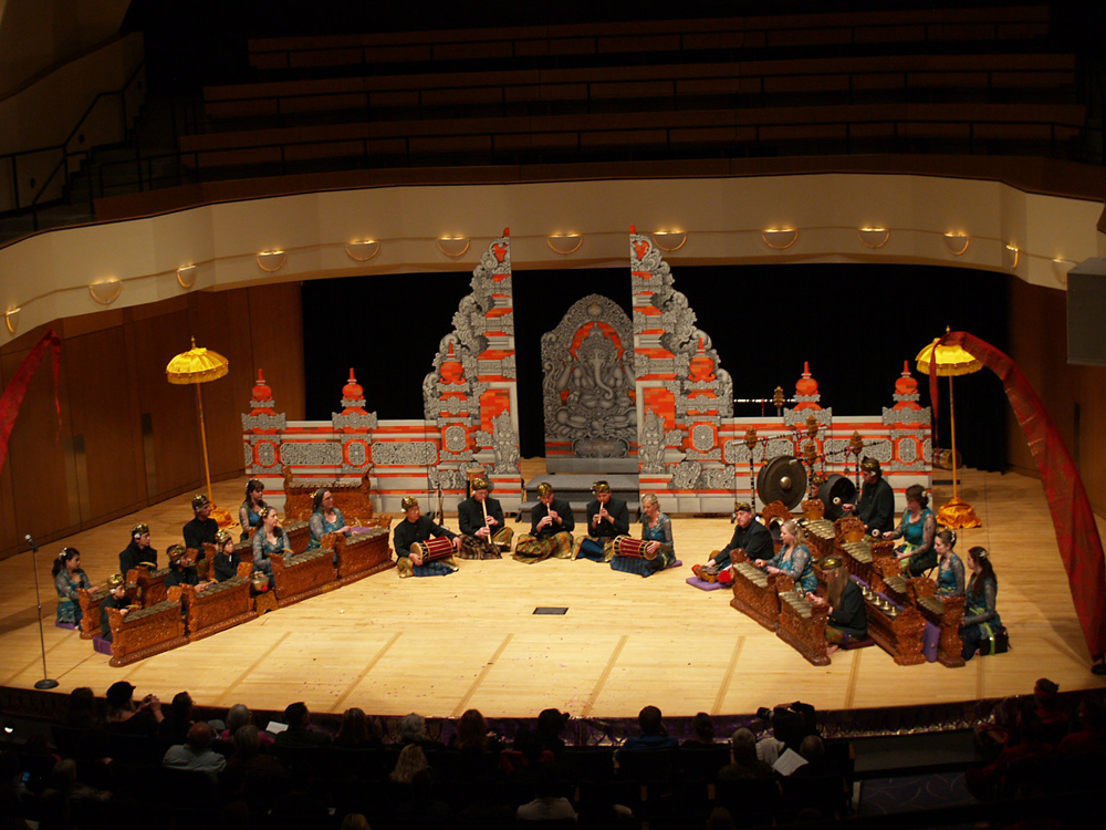 Gamelan Tunas Mekar performing in 2012 at the King Center in Denver, Colorado. Photo by Charla Bevin.