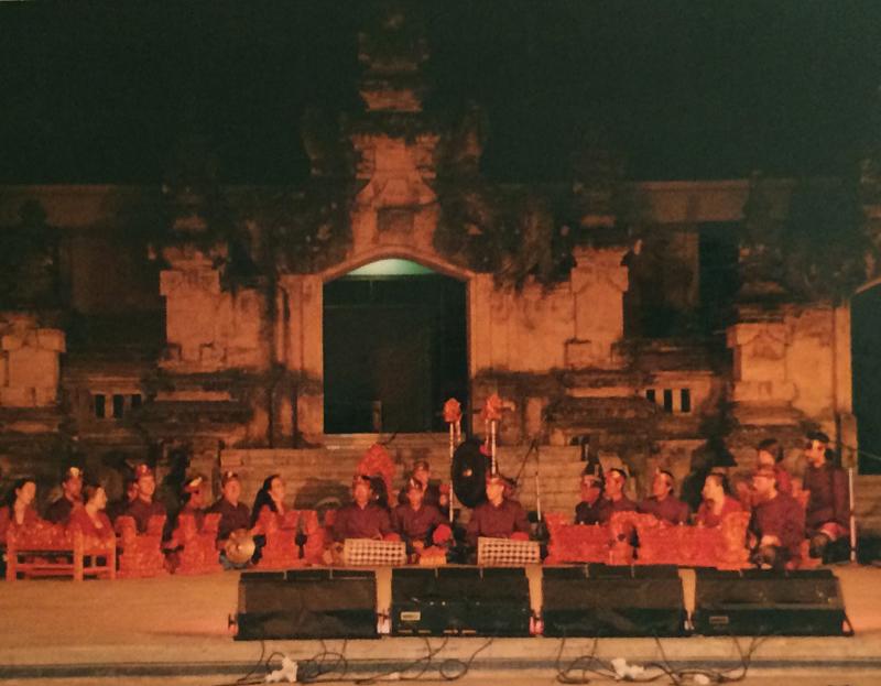 Gamelan Tunas Mekar performing at the 1996 Bali Arts Festival, Denpasar, Bali